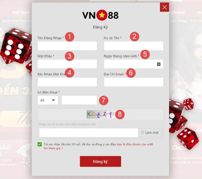 Hướng dẫn đăng ký tài khoản vn88 trên thiết bị di động