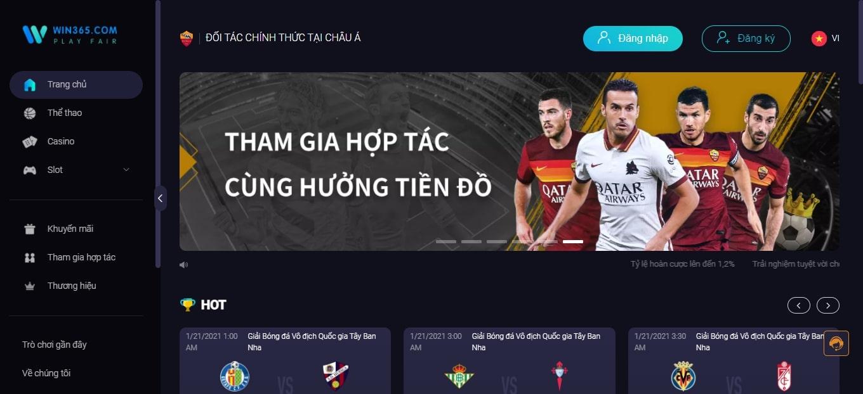 Win365 nhà cái cá cược thuộc top 5 nhà cái đáng tin cậy ở Việt Nam