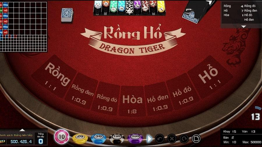 Game bài casino Rồng Hổ tại vn88